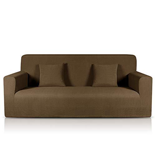 TAOCOCO Sofa Überwürfe Jacquard Sofabezug Elastische Stretch Spandex Couchbezug Sofahusse Sofa Abdeckung in Verschiedene Größe und Farbe (Diamantgitter Braun, 3-sitzer(180-230cm))