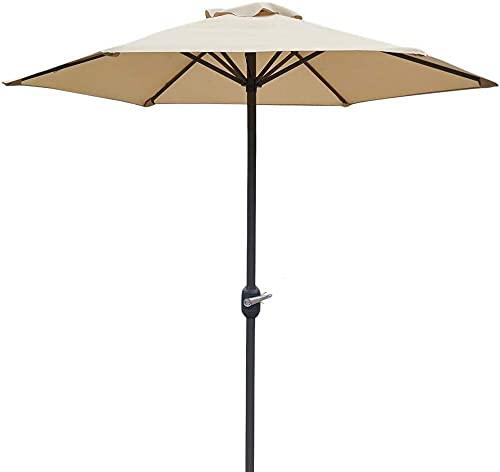 MLL Garden Parasol,6ft Patio Umbrella Canopy,Market Table Umbrellas Sunbrella with 6 Ribs and Crank,Waterproof Umbrellas
