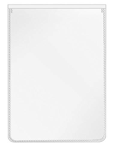 VELOFLEX 3115500 Schutz- und Ausweishülle für DIN A7, PP-Folie, mit Einreißschutz, dokumentenecht, 20 Stück