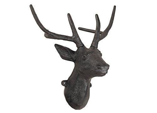 XI 'an Linton sa-14968 – Tête de cerf, métal, 21 x 38 x 40 cm Couleur Rouille