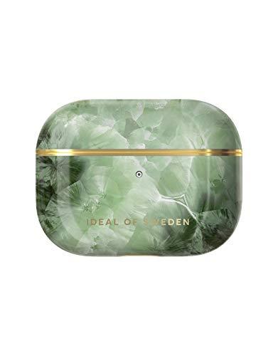 iDeal of Sweden AirPods Pro Hüllen, AirPods Pro Schutzhülle kompatibel mitt AirPods Pro, Qi-Ladegeräten kompatibel, LED an der Frontseite Sichtbar (Crystal Green Sky)