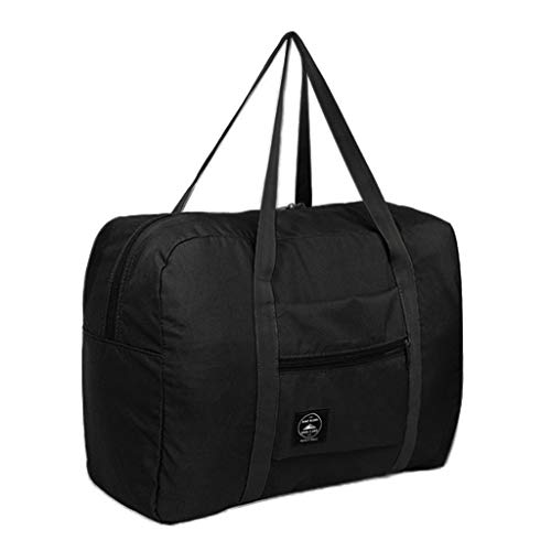 Big Save! Large Capacity Fashion Travel Tote for Man Women Bag Travel Carry on Luggage Bag (Black)