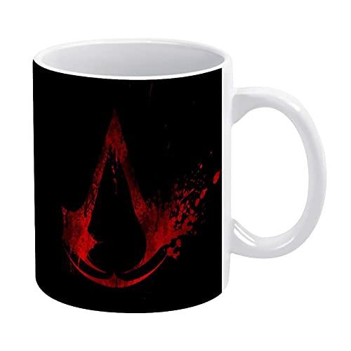 Assassins Creed - Taza de té para oficina y hogar, 11 oz, apta para lavavajillas y microondas