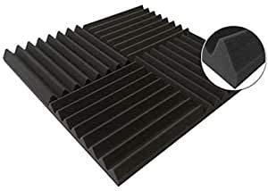 Deluxe Ultraflex Wedge High Qualität Akustikschaumstoff Fliesen, Schallschutzmatte, Geräuschdämmung Wand 24 Stücke