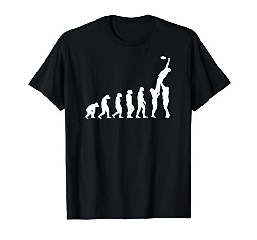 Rugby Evolution: vom Affen zum Rugbyspieler Line-Out Edition T-Shirt