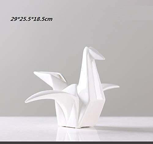 hacpigbb Origami Geométrico Grúa De Papel Estatua Artesanías Creativas Decoración del Hogar Regalo Pintado A Mano Dormitorio En Forma Sala De Estudio Sala De Estar - Grande