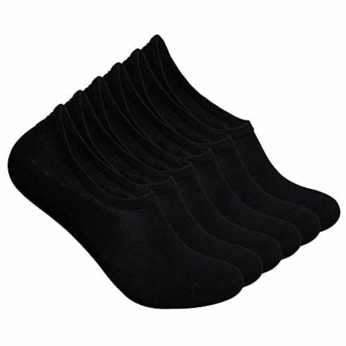 BestSale247 12 Paar Damen Mädchen unsichtbare Füßlinge Ballerina Sneaker Socken (Füßlinge Schwarz, 39-42)