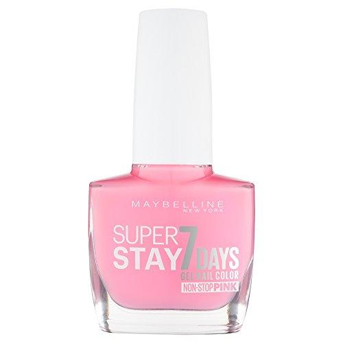 Maybelline New York Make-Up Superstay Nailpolish Forever Strong 7 Days Finish Gel Nagellack Flushed Pink / Non-Stop Pink Farblack mit ultra starkem Halt ohne UV Lampe in intensivem Rosa, 1 x 10 ml
