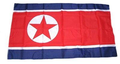 Fahne Stockflagge Nordkorea NEU 30 x 45 cm Flagge