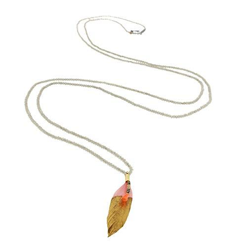 Alica, goud/champagne/roze, elegante halsketting voor dames, vrouwen en meisjes I halsband modesieraad I designer halsketting van sweet deluxe