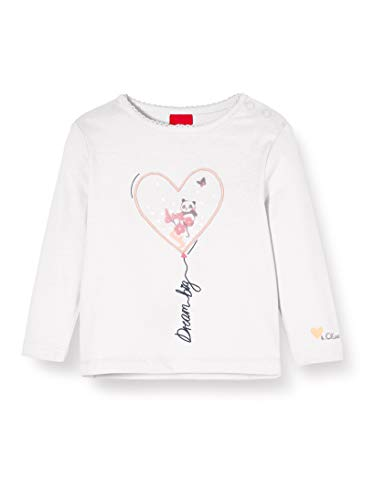 s.Oliver Junior 405.10.002.12.130.2022876 T-Shirt, Baby - Mädchen, Beige 62 EU