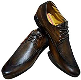 Harley Punch Formal Shoes 307 (8) Brown