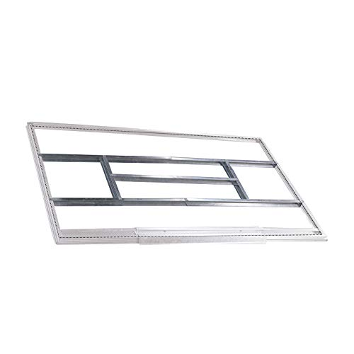 Gardiun KIS14005 - Estructura metálica para pre-instalación de suelo casetas de 2,4 m² - 1,91 x 1,11 cm