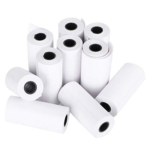DAUERHAFT 10 Rollen Thermopapier, Nachfülldruckpapier für Kinderkameras, Thermopapier bis Rollen, Taschenetikettendrucker für tragbare Studenten, Kinder-Sofortdruckkamera.
