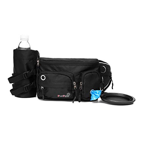 FurPals Dog Treat Pouch Waist Bag - Fanny Pack for Training and Walking Small-Medium Dogs - Lightweight, Sturdy Design - Poop Bag Dispenser, Bottle Holder, Collapsible Water Bowl