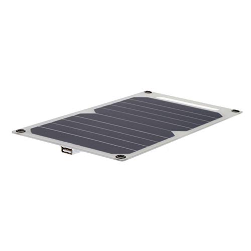 Fransande Cargador PortáTil de Panel Solar de 10W 5V Cargador Solar de Viaje Al Aire Libre para TeléFono Celular Tablet Pad Senderismo Cargador de Barco de Acampada