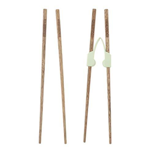 IPOTCH 2 par Palitos de bambú con ayudantes Entrenamiento de Madera Adultos Niños