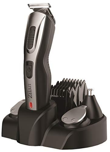 Bartschneider Set | 5in1 Haarschneider | Konturenschneider | Bart Trimmer | Haarschneidemaschine | Langhaarschneider | Akku oder Netzbetrieb | 10 Aufsätze | Nasen-Ohren-Augenbrauen Schneider |