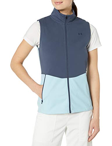 Under Armour Damen Soft Shell Vest Jacke, Blaue Tinte (497) / Blaue Tinte, Small