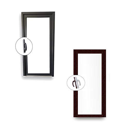 Nebentür 2-Fach Verglasung - 60 mm Rahmenprofil - Ganzglas - innen weiß außen Mahagoni - außenöffnend - BxH: 900x1900 mm DIN Links
