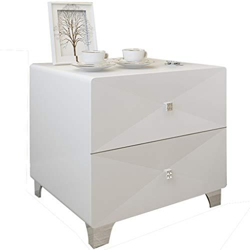 QYSZYG Comodino Verniciato Bianco armadietto Moderno in Legno massello con Mini armadietto Moderno Comodino