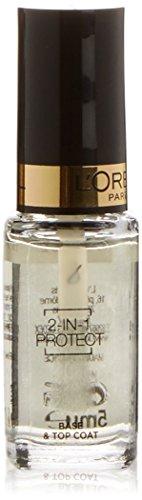 L'Oréal Paris Make-Up Designer L'Or Maq CRLaManucure 2-in1 Protect Nu top coat per unghie Trasparente