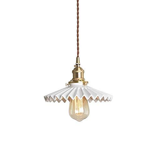 GFDFD Lámpara de Techo Convertible for Interiores Luminaria de Techo semiempotrada Acabado en Bronce frotado con Aceite con Reflejos y persianas de Metal Blanco
