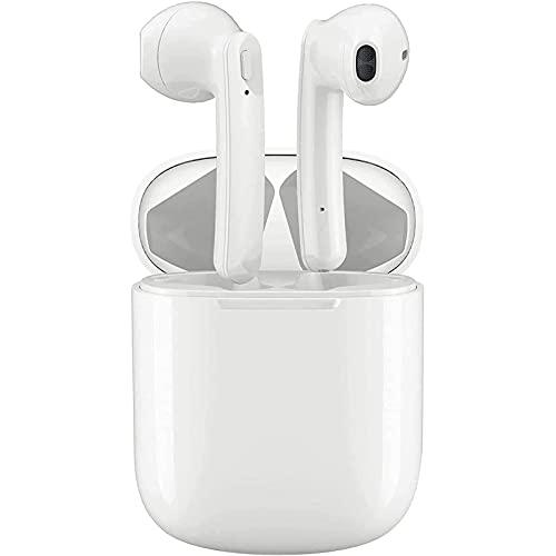 Auricolare Bluetooth Senza Fili,Cuffie Bluetooth 5.0,Cuffie Wireless Stereo 3D with IPX5 Impermeabile Accoppiamento Automatico Per Chiamate Binaurali microfono integrato,per lavoro,casa,gli sport