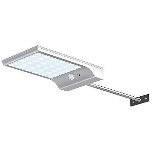 Zonne-ultradun Flat-paneel Met Staafwandlamp, LED Smart Human Body Sensor Kan 5-10 Meter Afstand Detecteren, Heeft 3 Verlichtingsmodi (wit)