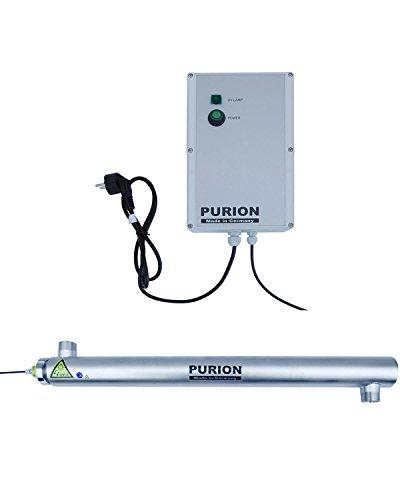 PURION 2501 Sistema de desinfección del Agua UV Limpiador de Piscinas Clarificador de Agua Acero Inoxidable