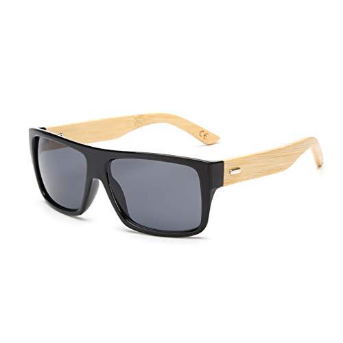 YTYASO Gafas de Sol de bambú de Madera para Hombres y Mujeres, Gafas de Sol UV400 con Espejo, Sombras de Madera, GafasAzules para Exteriores, Gafas deSolpara Hombre