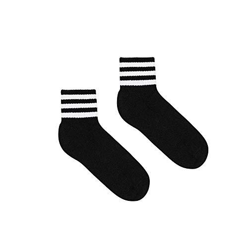 American Apparel Damen Striped Ankle Socken, schwarz/weiß, Einheitsgröße