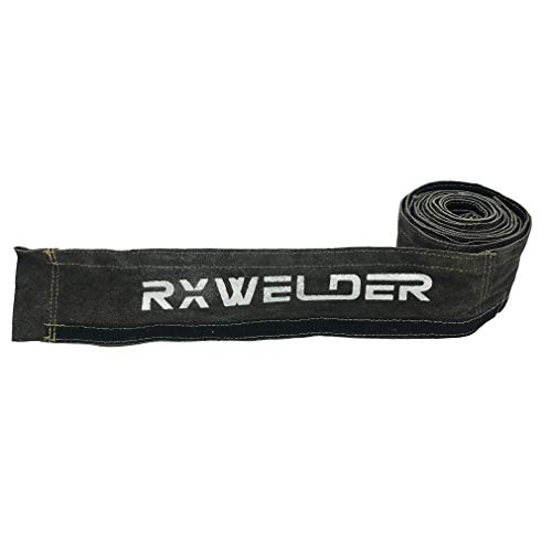 RX WELD Black TIG Welding Torch Cable Cover Flame-Resistant Leather Kevlar Stitched,Yellow MIG/Plasma Cable Sleeves Tig Cover,137''