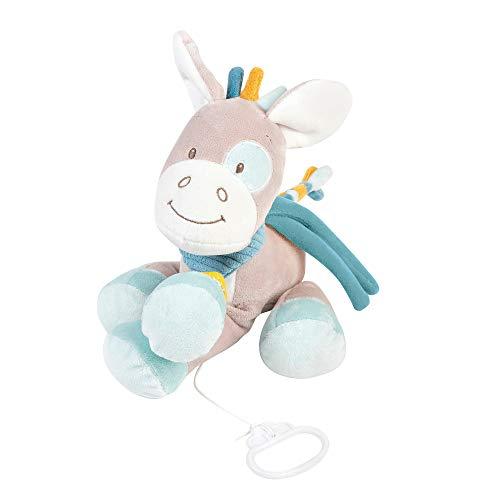 Nattou Sound Toys Peluche Musical Caballo, Canción de Cuna La-Le-Lu, Altura: 26 cm, Tim y Tiloo, Beige, Color (498050)