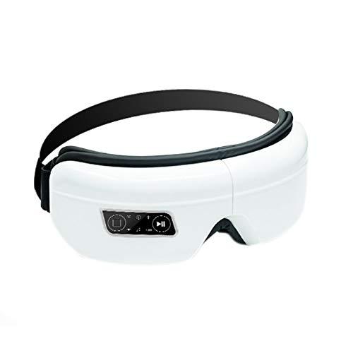 Basage Masajeador de Ojos Recargable para Masaje de Ojos FuncióN de Calor Soporte InaláMbrico para MP3 Enchufe de la UE