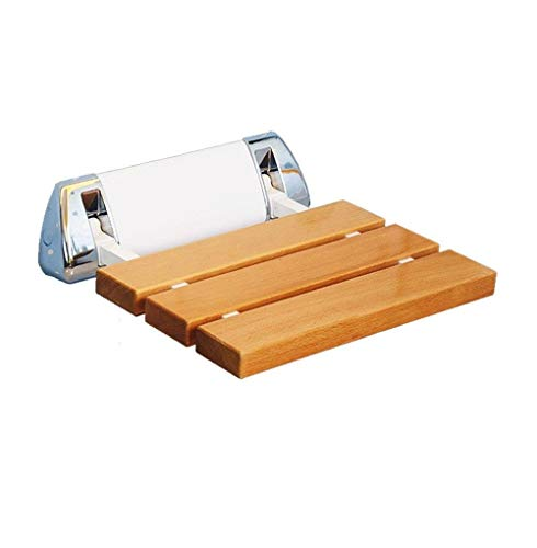 ZKKZ-STOOL Duschhocker Wandmontierter, tragender 250 kg Schwerer Duschsitzhocker Badezimmer aus Holz Rutschfester, klappbarer Badhocker für ältere Menschen/Schwangere/Behinderte (Farbe : #4)