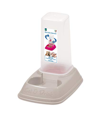 Futterspender Wasserspender Hunde Katzen Futter Wasser Napf Automat 2in1 700 ml