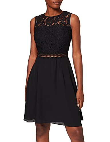 Amazon-Marke: TRUTH & FABLE Damen kleider Jcm-42470, Schwarz (Black), 40, Label:L
