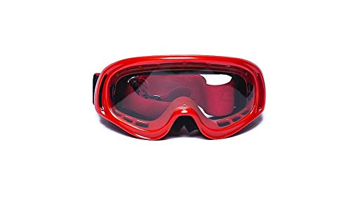 CRG Sports Motocross ATV Dirt Bike Off Road Racing Goggles RED T815-3-2 T815-3-2 Transparent lens red frame