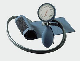 Boso clinicus II Blutdruckmessgerät mit Klettmanschette-Standard, blau