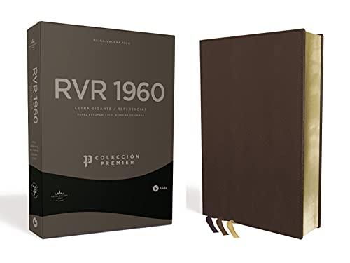 Compare Textbook Prices for Reina Valera 1960 Biblia Letra Gigante, Colección Premier, Café, Interior a dos colores: Edición Limitada Spanish Edition  ISBN 9780829737714 by Vida,RVR 1960- Reina Valera 1960