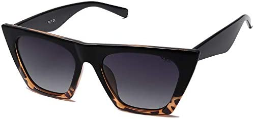 SOJOS Retro Square Cateye Polarized Women Sunglasses Trendy Style BELLA SJ2115 with Black Tortoise product image