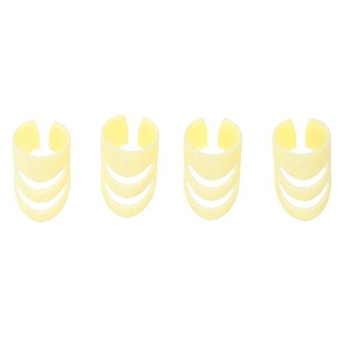 Kcopo Fingerschutz 14mm Kunststoff Finger Sack Fingerschutz Fingernagel Fingerspitze Schutz Rechte Hand Für Gitarre Basis Gelb