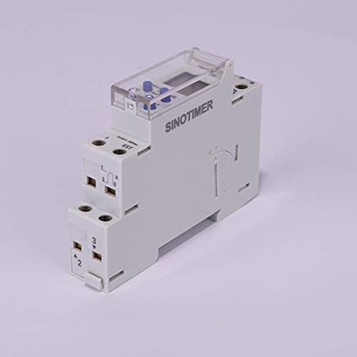 ACEHE Interruptor Temporizador, SINOTIMER 220V / 110V TM610 1P 18MM Módulo único Carril DIN LCD Digital 7 días 24 Horas Interruptor Temporizador programable