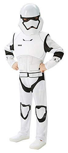 Rubie's 3620269 - EP7 Stormtrooper deluxe child, 9-10 Jahre, weiß/schwarz