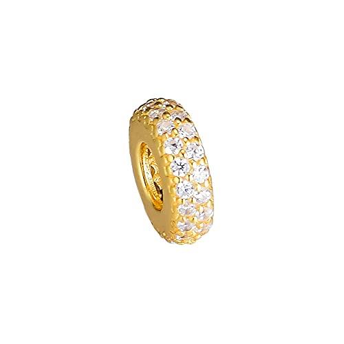LILANG Pandora 925 Pulsera de joyería Cuentas Naturales Abestract de Oro Charms Original Fit Sterling Silver Charm Bead para Hacer Bijoux Kralen Mujeres DIY Gift