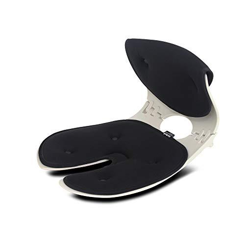 【オリバック】 テレワーク推奨 骨盤サポートチェア 姿勢補正 正規品(メーカー純正) 1年保証 (ブラック)