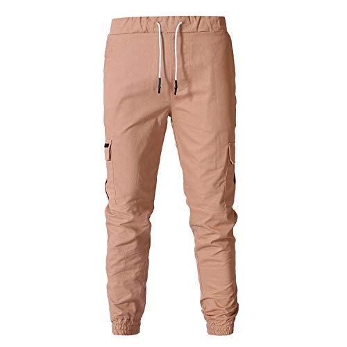 BSbattle Hommes Sarouel Joggers Mens Pantalon cargo Multi Poches Régulière Mode Casual Streetwear Cordon de serrage Hommes Pantalones Hombre - Vert - 41-44.5