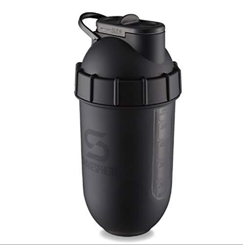 LJYTWPZYS Botella de Agua Deportiva, Taza de agitador de Fitness, Leche en Polvo de proteína, Taza de Mezcla de plátano, Mini cápsula de 700 ml.