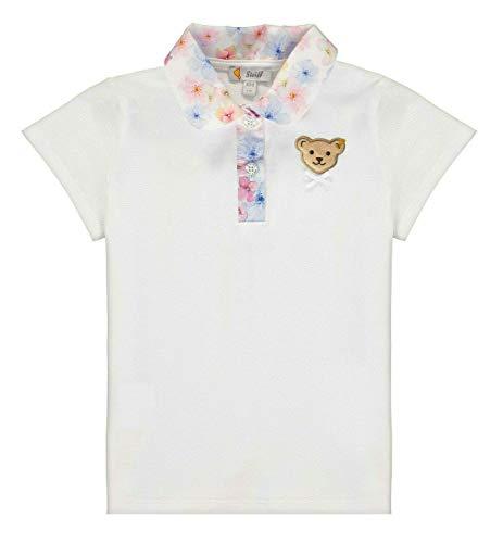 Steiff Mädchen Poloshirt, Weiß (Bright White 1000), (Herstellergröße: 110)